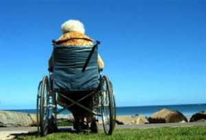 Generic pic of an old woman in a wheelchair.